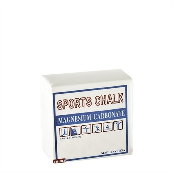 Weightlifting Chalk Blocks (8). Chalk (magnesium carbonate) used to reduce the effects of perspiration on grip.  There are 8 Blocks of chalk in each box.