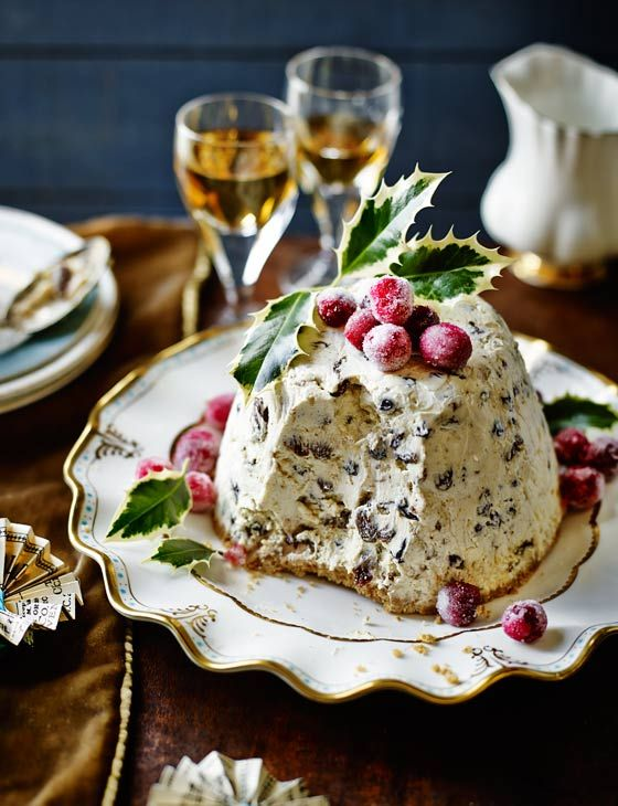 Iced Christmas pudding - I'd tweak the ingredients a bit. Graham Cracker Crust and a few other musts/replacements