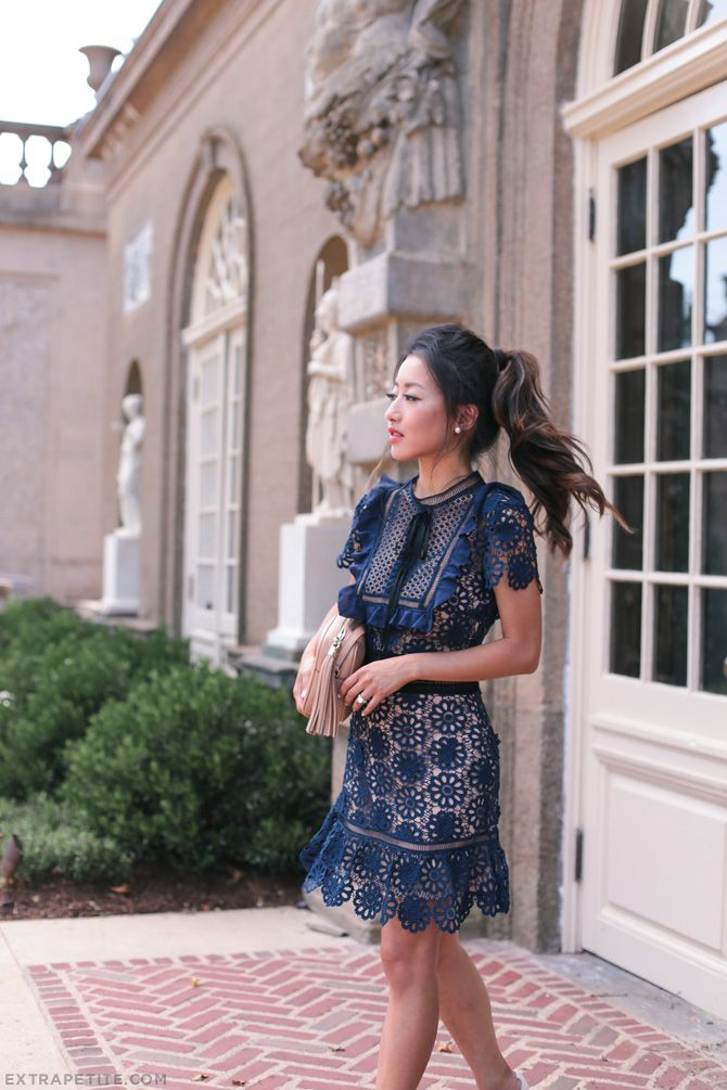 self portrait blue lace dress fall wedding_extra petite blog