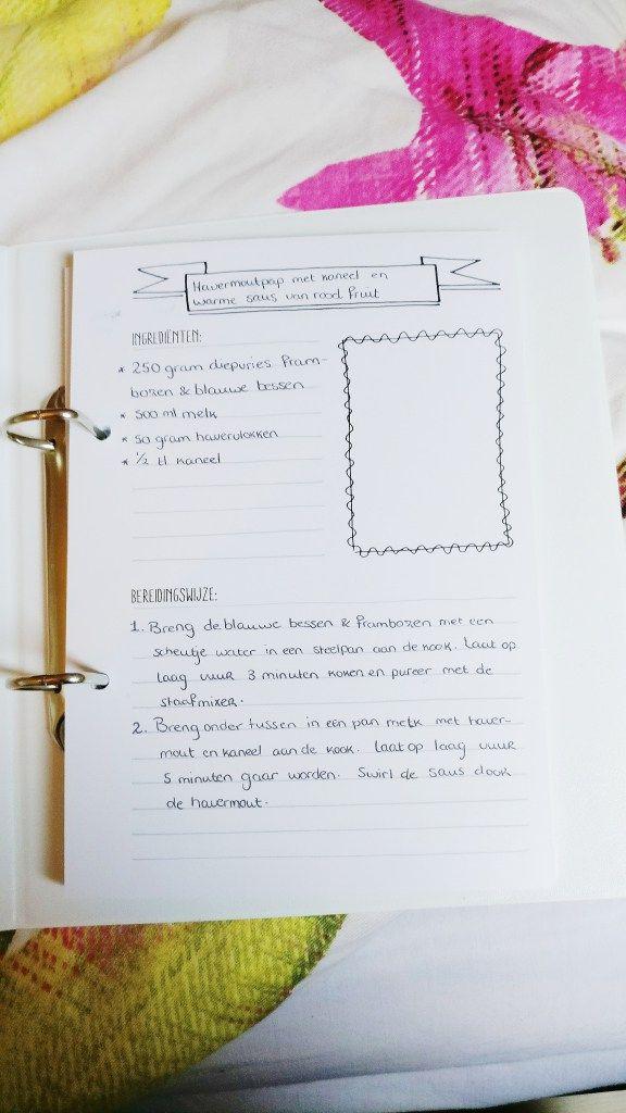 Review Havetohave Mijn Receptenboek Ezra Schrijft Bullet Journal
