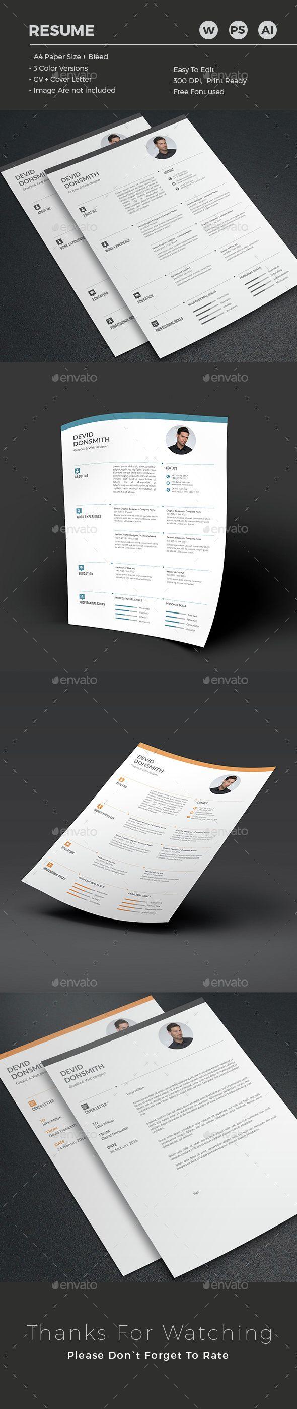 114 best Resume Templates images on Pinterest   Resume templates, Cv ...