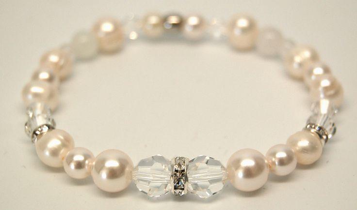 Bracelet élastique bracelet perle bracelet mariage bijou mariée bracelet cristal…