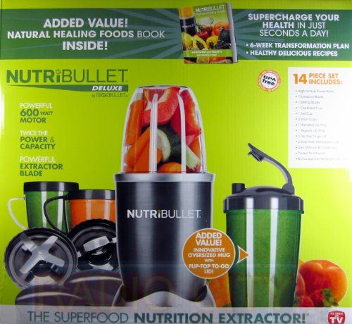 Turn ordinary food into superfood with the NutriBullet® . It has a powerful 600 watt motor and extractor blade that can open seeds, crack through stems, shred skins, and access hidden nutrients in food. It breaks down food to its most digestable state … Continue reading Nutribullet 14-Piece Nutrition Extractor 600 Watt Blender Juicer NBR-1401 Nutri Bullet →