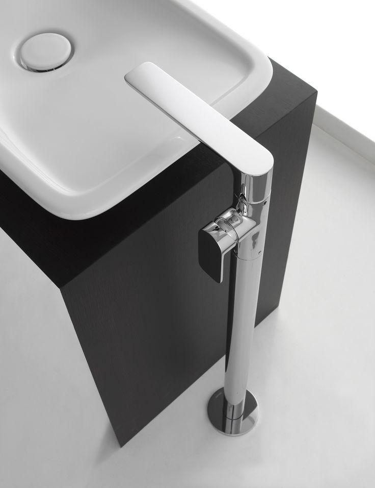 The Sento Floor Mounted Vessel Filler, Designed By Angeletti Ruzza Design  For GRAFF. Bathroom PlumbingBathroom Sink FaucetsPlumbing ...