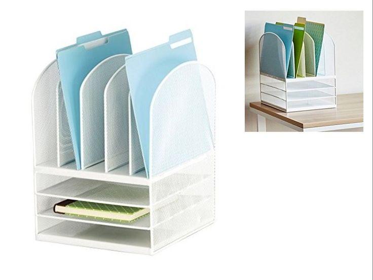 best 25 desktop file organizer ideas on desk file organizer office supply storage