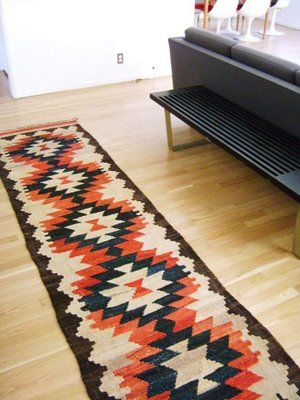kilim rug from Erin Loechner's blog  Image credit: The Brick House