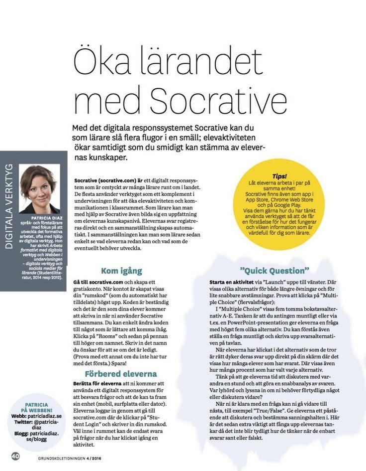 Socrative – så fungerar det! – Patricia Diaz