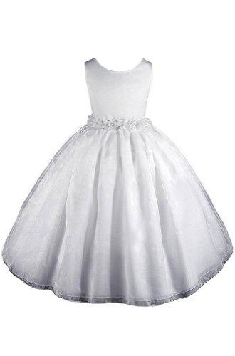 $29.99 Amazon.com: AMJ Dresses Inc Girls White Flower Girl Communion Dress Sizes 2 to 12: Clothing
