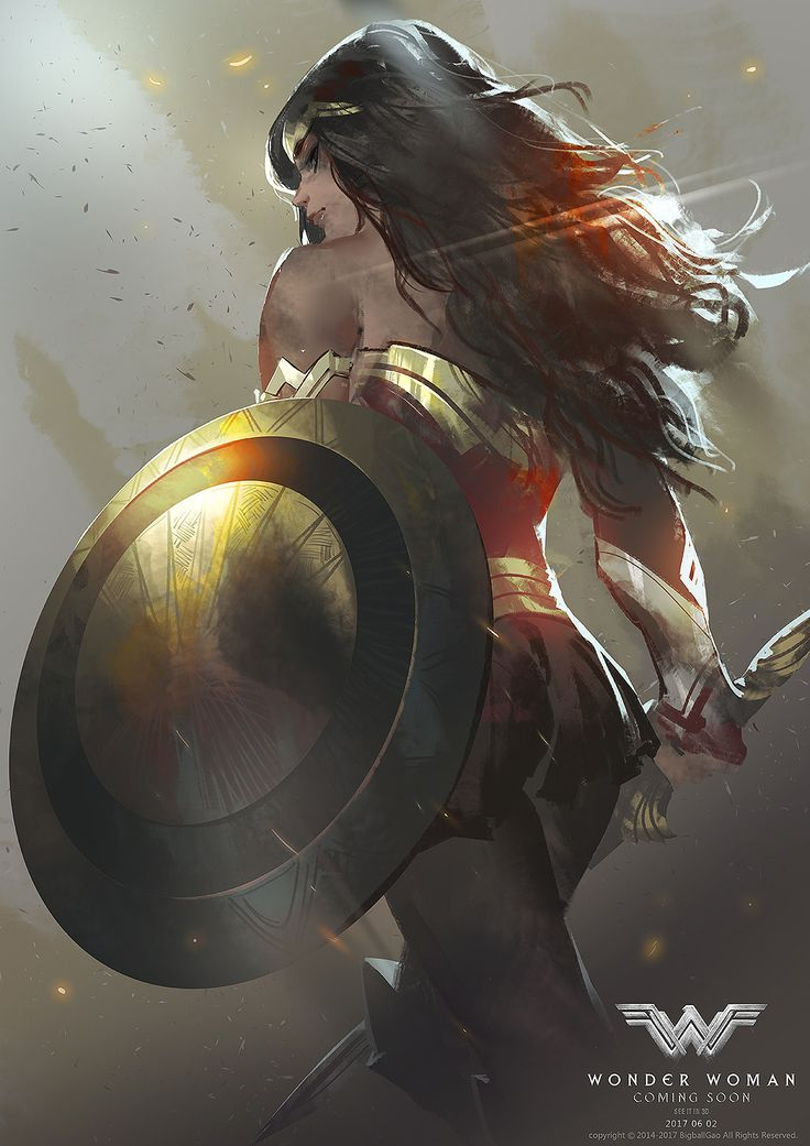 Wonder Woman, Bigball Gao on ArtStation at https://www.artstation.com/artwork/gdrAQ