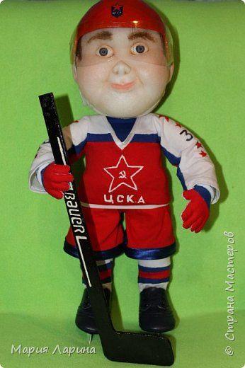 Куклы День рождения Папье-маше Шитьё трус не играет в хоккей   Капрон фото 1