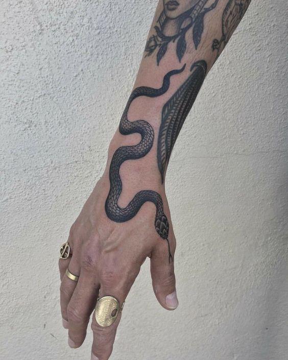 Snake Tattoos für Männer Giftige Idee Inspiration – Slither On Over und Ex …