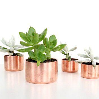 DIY Copper Planters  - 25 Copper DIYs and Decor for Thanksgiving