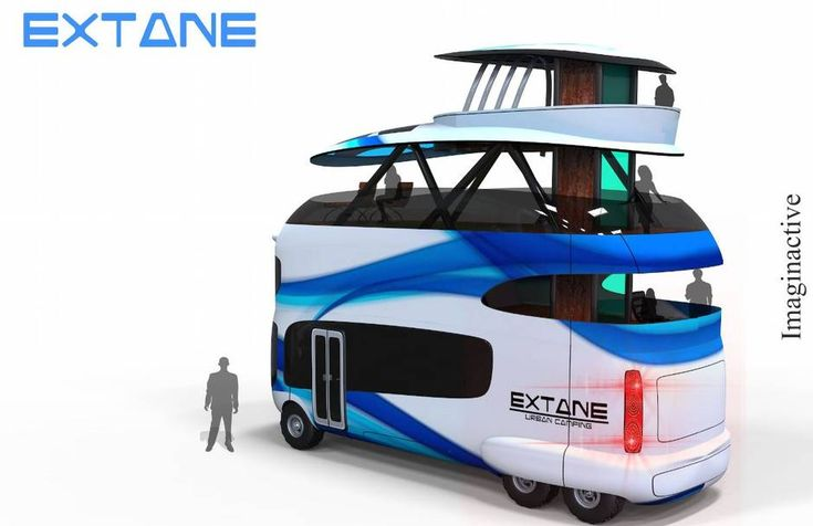 The Extane is a recreational vehicle (RV) designed to be used in RV parks -and in cities -around the world