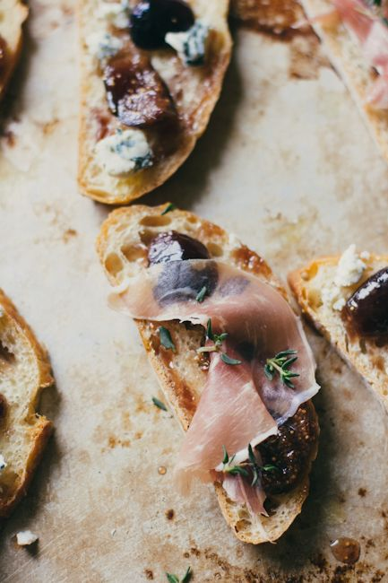 bruschetta with fig compote