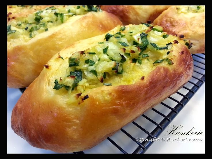 Spring Onions crab stick bread