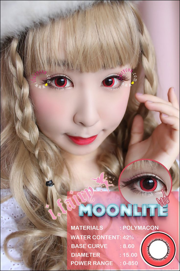 Color contact lenses online shop - I Fairy Moonlite Red Available In 8 Colors Prescription Available From 0 To 8 50 Degree Shop Http Store Ifairycon Com Ifairylens Ifairy