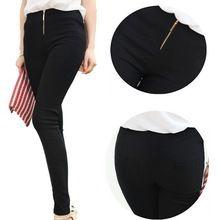 ücretsiz kargo kadın pamuk dokuzuncu pantolon külot ince bayan pantolon sıska kapriler siyah beyaz kadın fermuarlı kalem pantolon taytlar(China (Mainland))