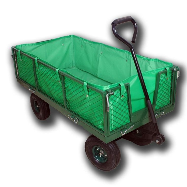 Rugged Metal Heavy Duty Garden Outdoor 4 Wheeled Utility