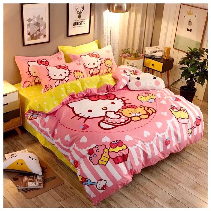Peachy Baby🔥🔥🔥Hello Kitty Bedding Set Hello kitty bed
