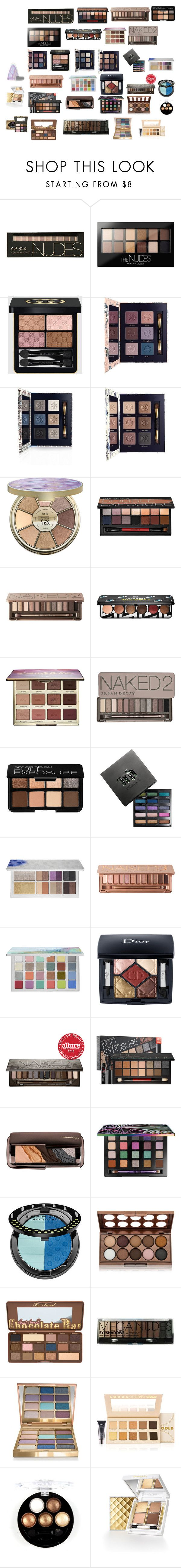 """göz farları"" by mervenara on Polyvore featuring moda, Maybelline, Gucci, Tory Burch, tarte, Smashbox, Urban Decay, Sephora Collection, Christian Dior ve Hourglass Cosmetics"