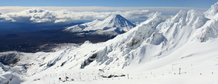 Whakapapa Ski Area, Mount Ruapehu, North Island, New Zealand.