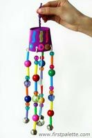 Beaded Wind Chimes. The kids will love listening these in the breeze.