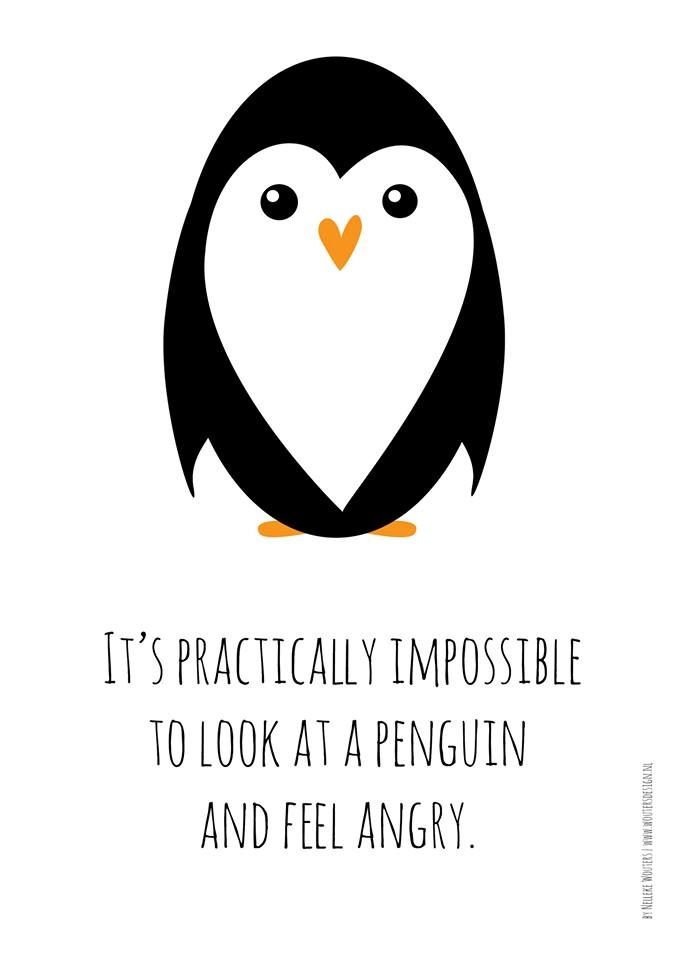 Pinguins penguin happy | by Nelleke Wouters | www.woutersdesign.nl