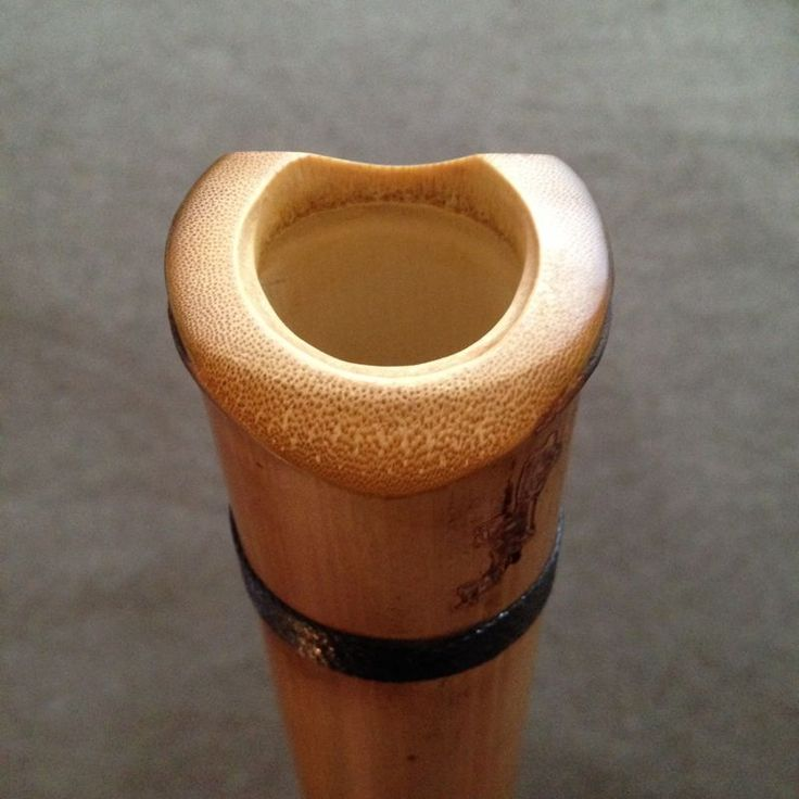 Natural blowing edge and bore on EARTH Model Shakuhachi by