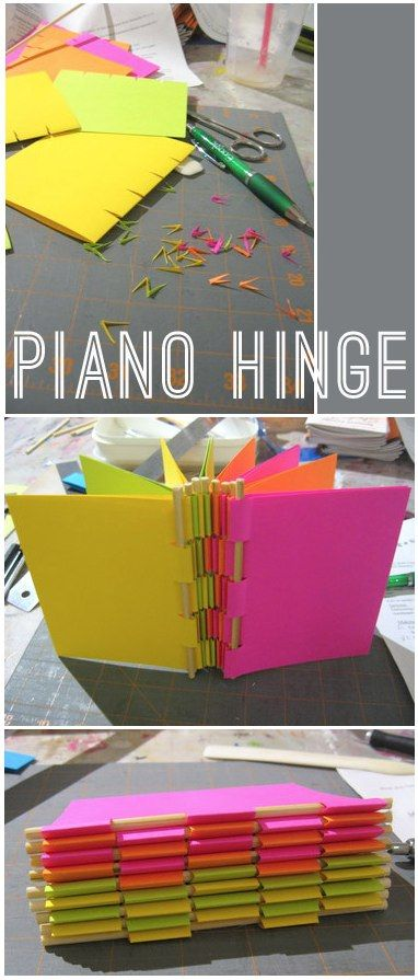 Craft project - make your own Piano Hinge book with bamboo skewers