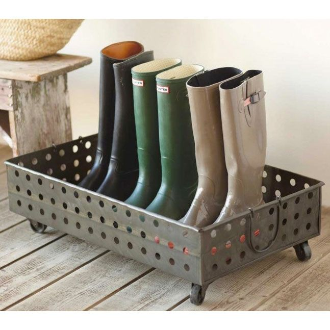 Metal Boot Tray - Rustic Modern Mudroom Collection - Dot & Bo