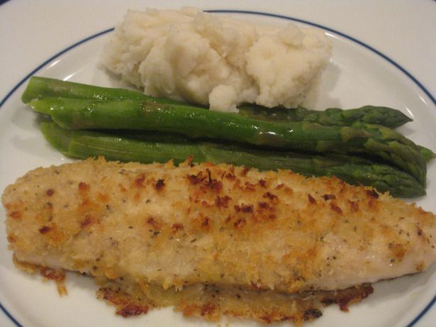 Creamy Crunchy Baked Basa.  Calls for mayo but I will use sour cream or Greek yoghurt.