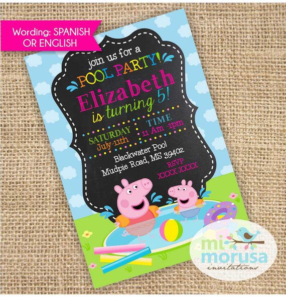 Pool Party - Peppa Pig & George - Swimming fun