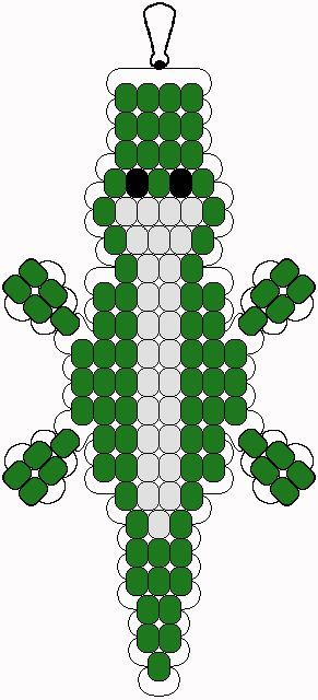 Alligator pony bead pattern: