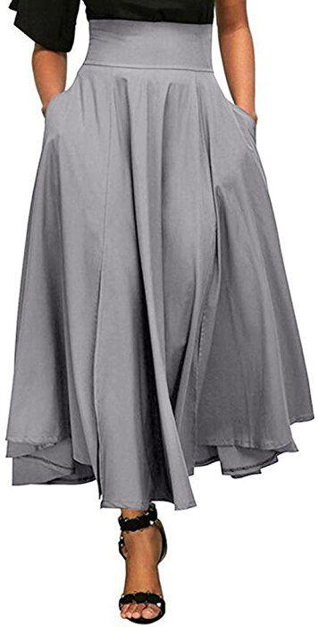 Amazon.com  Neartime ❤️Skirt Women,Hot Sale New Fashion 2018 Sexy High  Waist Mini Skirt Girls Scotland Casual Pleated A Line Long Skirt Front Slit  Belted ... d57b78b400