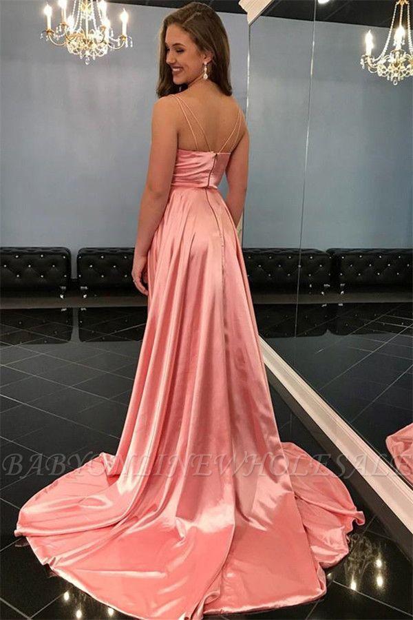 Abendkleid Lang Rosa Günstig | Ballkleider Online ...