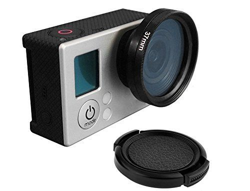 Zomeiآ® Nd4 Filter with Standard Ring Adaper for Gopro Lens 3 3+ 4 Accessory