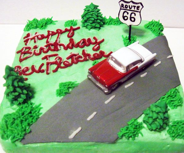 17 Best Images About Route 66 Cake On Pinterest