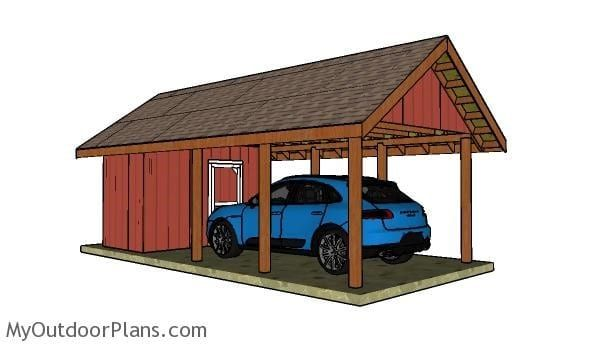 23 Free Detailed Diy Garage Plans With Instructions To Actually Build Carport With Storage Building A Carport Wooden Carports