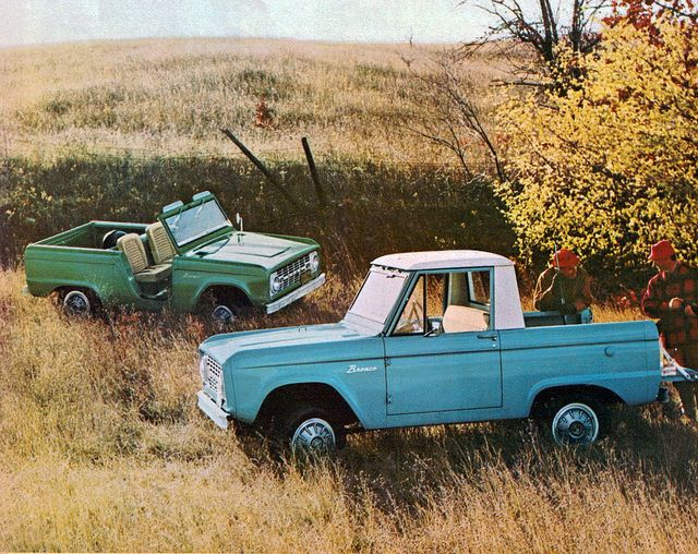 1967 Ford Bronco Roadster and Pickup 4X4