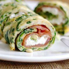 Spinazie omelet met zalm1