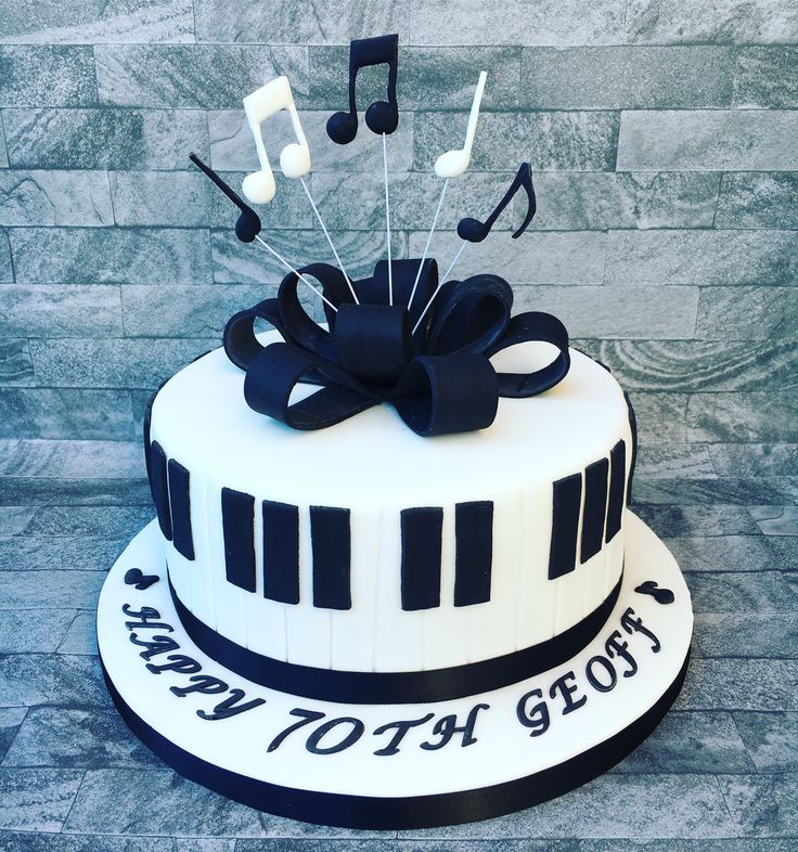Music Themed Cake With Musical Notes