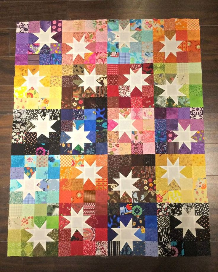 #starblockquiltswap I like the stars in white with colors all around by mrsdisney14