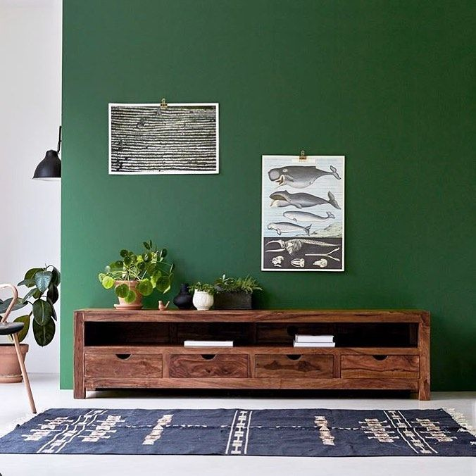 31 Metres Carres On Instagram Vert Bois Tikamoon Inspiration Couleur Peinture Vert Mur Meubl Petit Meuble Tv Mobilier De Salon Meuble Tv Bois