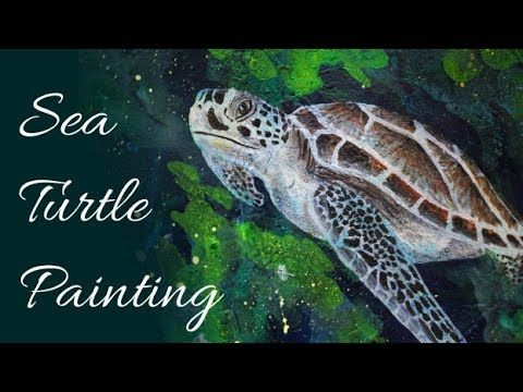 Sea Turtle - Acrylic Speed Painting
