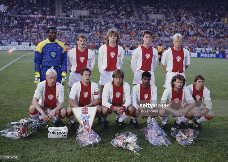 The AFC Ajax team before their European Cup Winners' Cup final match against KV Mechelen ...