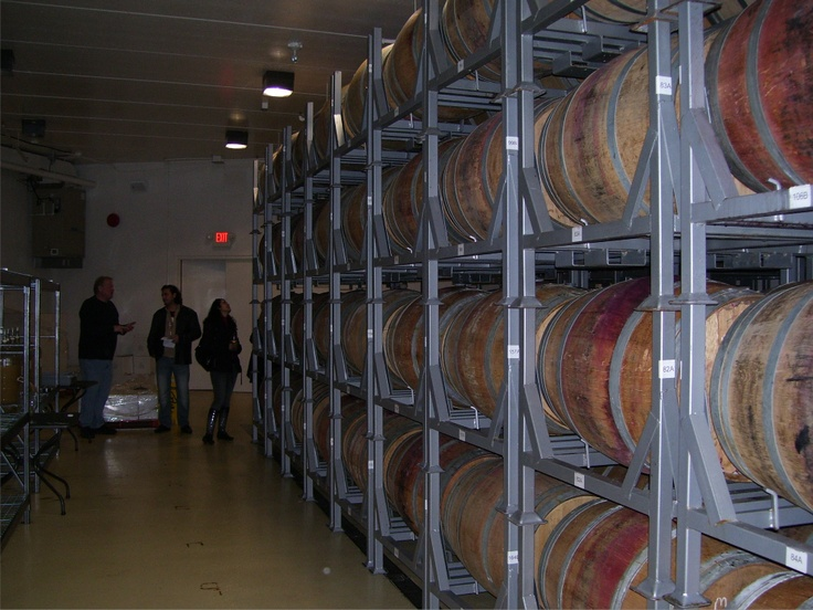 The barrel cellar of Viewpointe Estate Winery located under the main building.