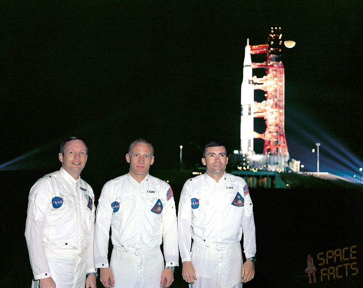 The back up Crew for Apollo 8. Neil Armstrong, Edwin Aldrin, Jr. and Fred Haise.