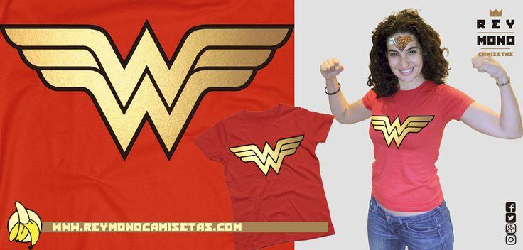 Sólo Pienso En Camisetas: Camiseta Wonder Woman en Rey Mono