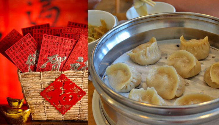 Chinese dumplings - Chinese New Year food that symbolizes wealth