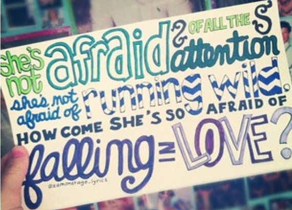 Shes Not Afraid Lyric Drawing by samonstage on Etsy, $5.00